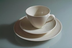 Porcelain: cup, saucer, plate